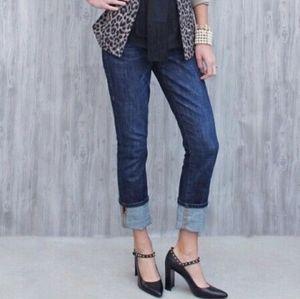 CAbi Straight Leg Slim Stretch Jeans SZ 4